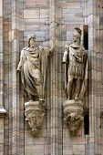 foto of castello brown  - two statue in the church in milano - JPG