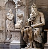 foto of masterpiece  - Moses by Michelangelo in San Pietro in Vincoli Rome Italy - JPG