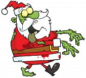 foto of lurch  - Santa Claus Zombie Walking With Hands In Front - JPG