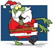 picture of lurch  - Santa Claus Zombie Walking With Hands In Front - JPG