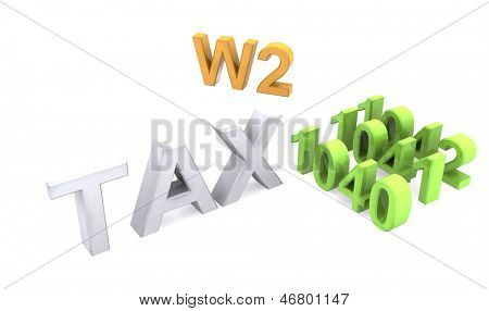 3D Tax text icon