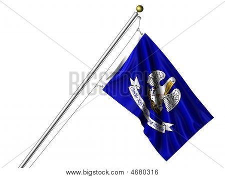 Isolated Louisiana Flag