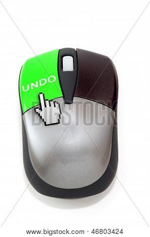 Hand Cursor Clicking On undo Button