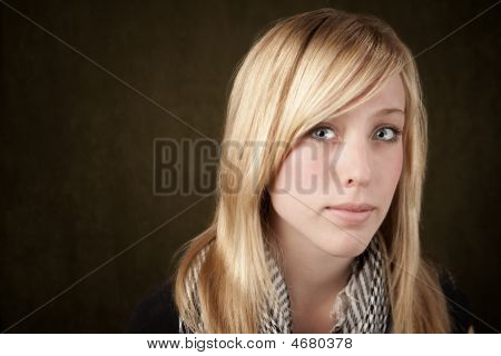 Close Up Of Pretty Blonde Woman