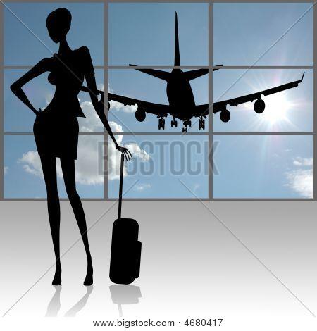 Female At Airport