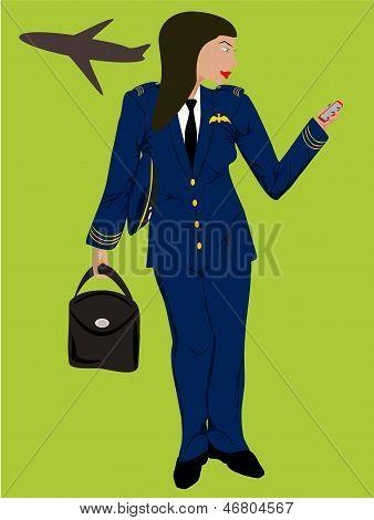 piloto mujer negra