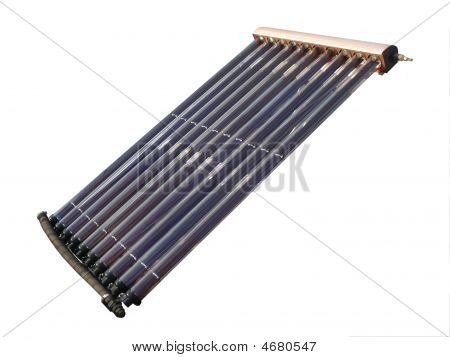 Evacuated Tube Solar Collector Isolated Over White Background - P1030742C