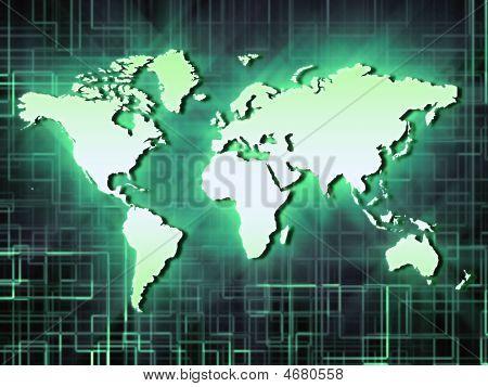Neon Green World