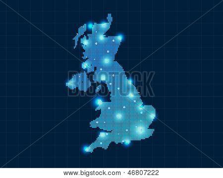 pixel united kingdom map