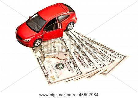 Car, Key And Money