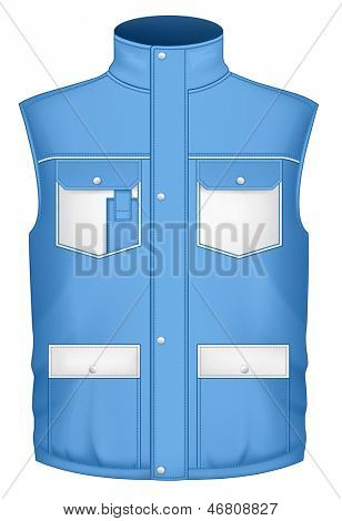 Men's body warmer design templates (front view). Vector illustration.