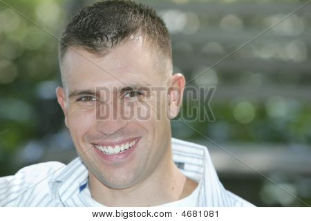 Brunette Man Portrait