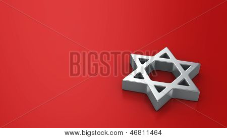 Star Of David On The Red