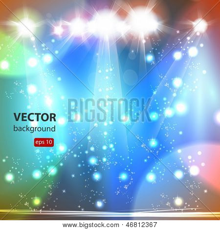 Stage, Vector illustration, easy all editable