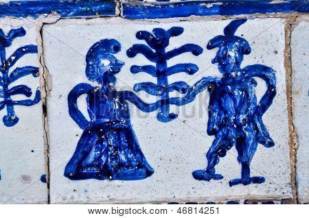 Decoration vintage stove tiles