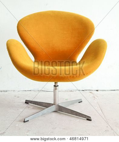 modern orange Chair contemporary style in vintage room