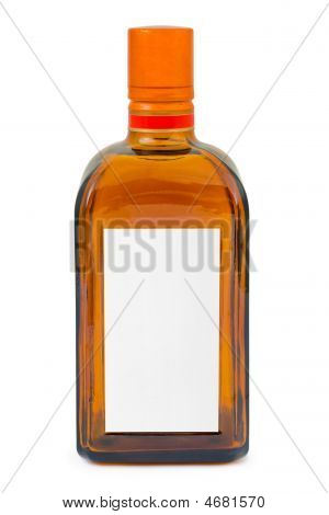 Bottle With Blank Label
