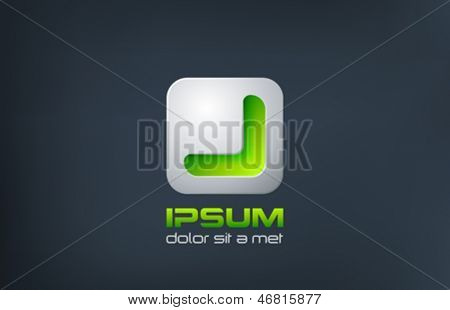 Software development - application design logo vector template. Programming technology abstract concept icon such a button of apps. Can be use as Bio eco symbol. Bionic Ecology theme.
