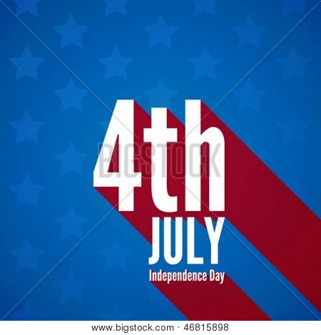 USA Independence day poster vector design template. 4th of July celebration. National holiday. Concept. Editable.