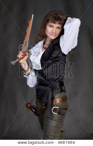 Girl - Pirate With Two Pistols