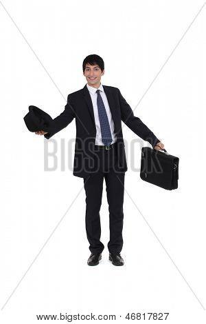 Joyful businessman