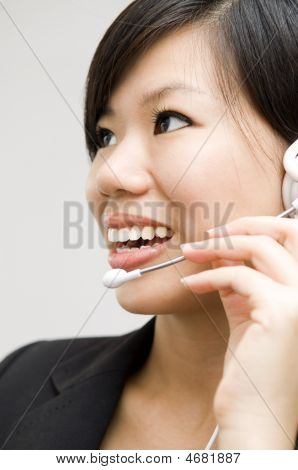 Customer Representative With Headset