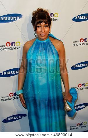 NEW YORK-MAY 29: Actress Tamara Tunie attends the Samsung Hope for Children gala at Cipriani Wall Street on June 11, 2013 in New York City.