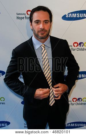 NEW YORK-MAY 29: NASCAR driver Jimmie Johnson attends the Samsung Hope for Children gala at Cipriani Wall Street on June 11, 2013 in New York City.
