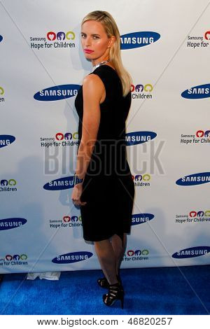 NEW YORK-MAY 29: Model Karolina Kurkova attends the Samsung Hope for Children gala at Cipriani Wall Street on June 11, 2013 in New York City.