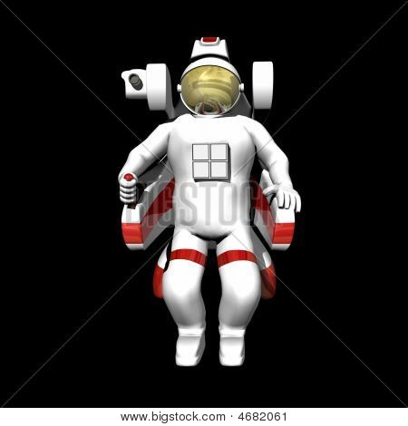 Astronaut In Booster Pack