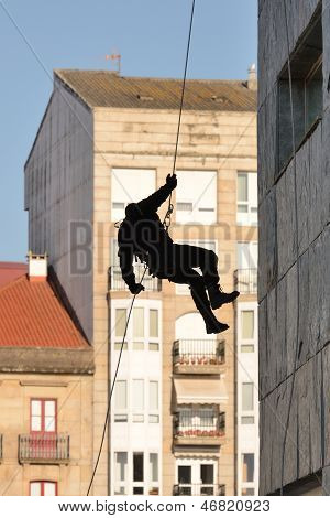 Police special forces in Spain in action