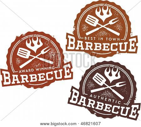 Vintage Style Barbecue BBQ Design Elements