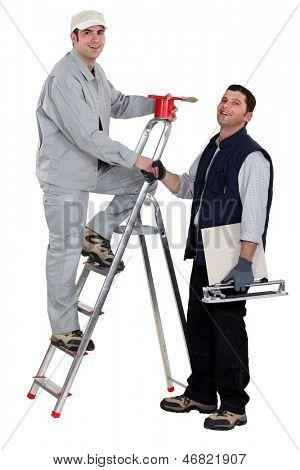 A painter and a tiler.