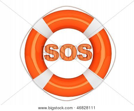 Sos Sign With Lifebuoy