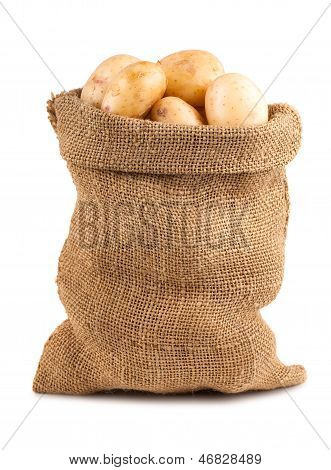 Sack Of Ripe Potatoes