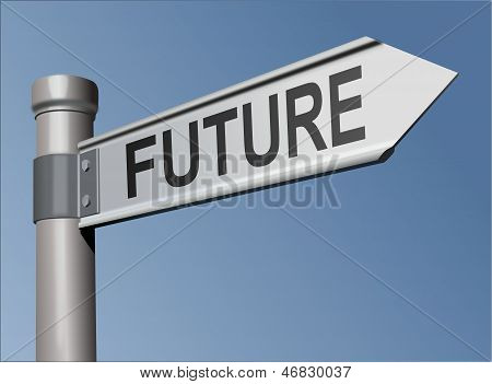 Guidepost with the word Future