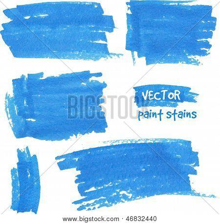 Vector spot of paint drawn by felt pen