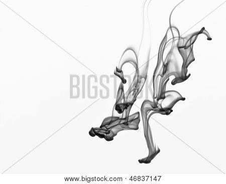 Black Ink In Water, Abstract Background