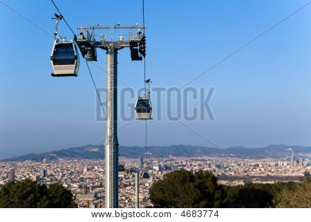 Cablecar In Montjuic, Barcelona