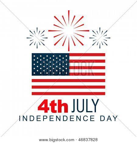 4 americano de diseño vectorial de julio