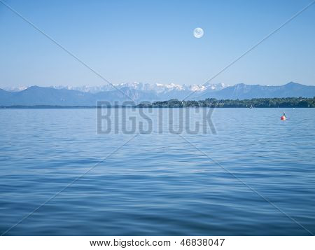An image of the Alps at Lake Starnberg - Tutzing