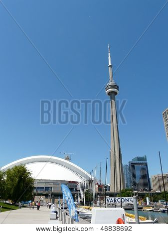 Toronto, Canada - June 12, 2013, CN Tower on June 12, 2013