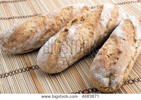 Three Fresh Baguettes