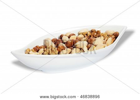 Bowl With Nut Kernels