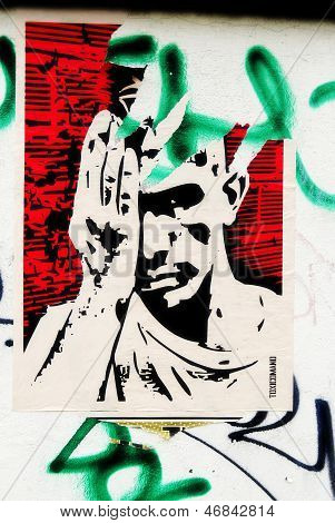 Street art by unknow artist
