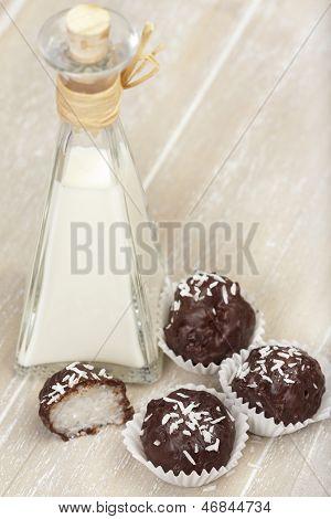 Coconut Milk Rice Truffles And Coconut Cream
