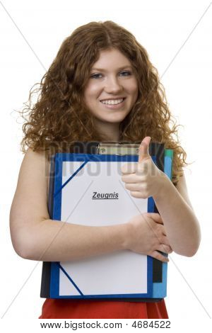 Female Student With Briefcase Testimonial
