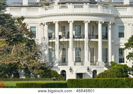 The White House in Washington DC - Close up