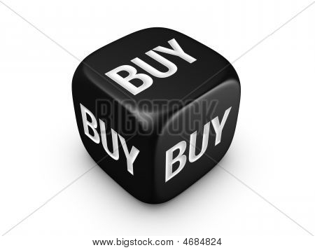 Black Dice With Buy Sign