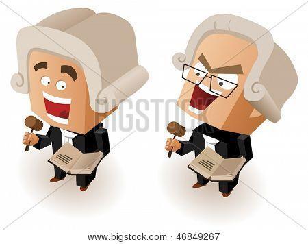 Good and Bad Judge. Vector Illustrator